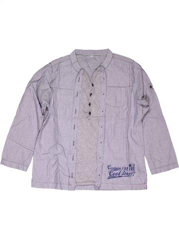 Chemise manches longues garçon CAPTAIN TORTUE violet 6 ans hiver #1022121_1