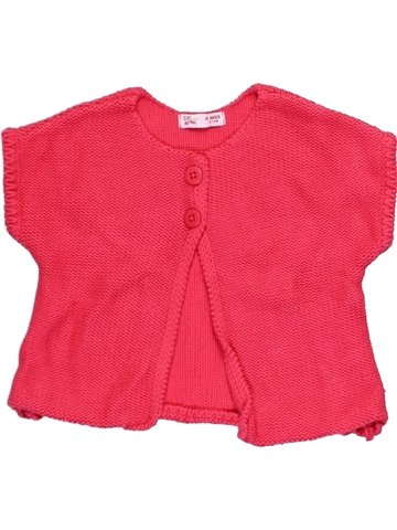 Gilet fille DPAM rouge 6 mois hiver #1024537_1