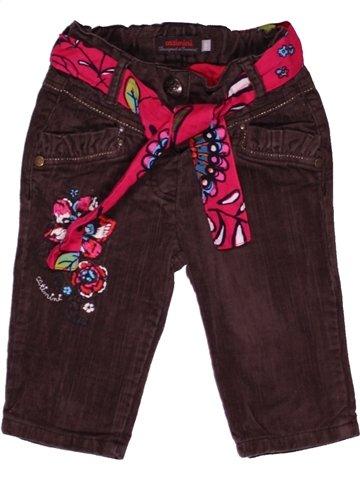 Pantalon fille CATIMINI marron 6 mois hiver #1059416_1