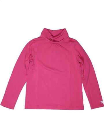 T-shirt col roulé fille JACADI rose 4 ans hiver #1070657_1