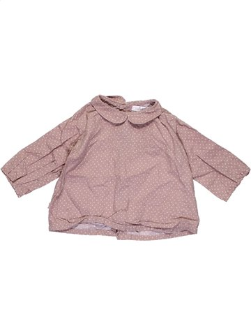 Blouse manches longues fille OKAIDI beige 6 mois hiver #1079438_1
