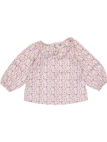 Blouse manches longues fille KIMBALOO rose 6 mois hiver #1079518_1