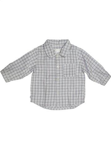 Chemise manches longues garçon OKAIDI gris 6 mois hiver #1089803_1