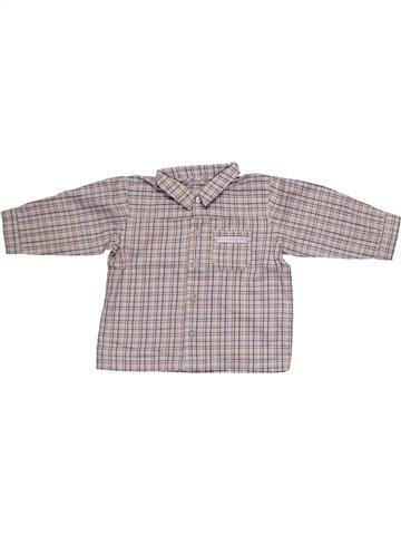 Chemise manches longues garçon SERGENT MAJOR violet 9 mois hiver #1099365_1