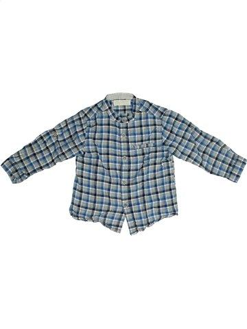 Chemise manches longues garçon ZARA bleu 18 mois hiver #1101898_1
