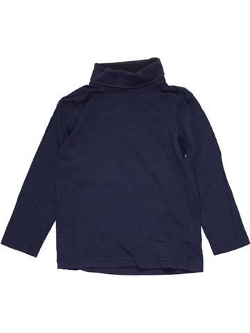 Camiseta de cuello alto unisex VERTBAUDET azul 6 años invierno #1103852_1