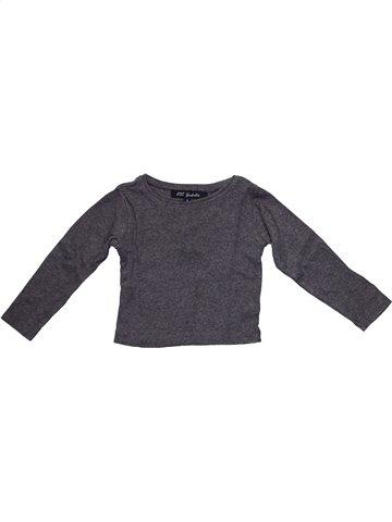 T-shirt manches longues fille LILI GAUFRETTE gris 4 ans hiver #1105904_1