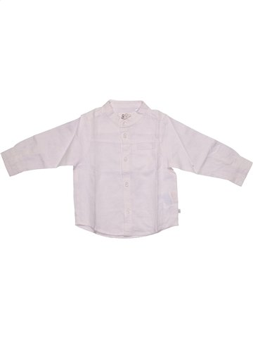 Chemise manches longues garçon OKAIDI blanc 18 mois été #1108265_1