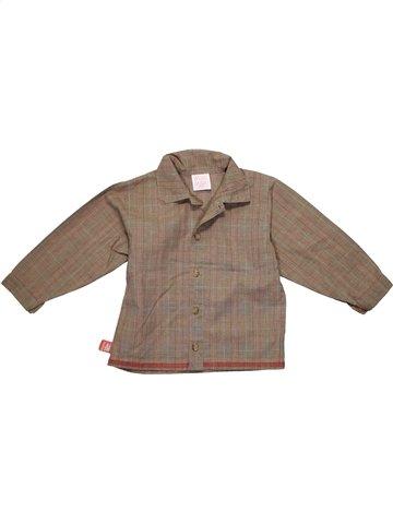 Chemise manches longues garçon MINIMAN marron 2 ans hiver #1120163_1