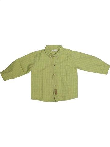 Chemise manches longues garçon GRAIN DE BLÉ vert 2 ans hiver #1132414_1