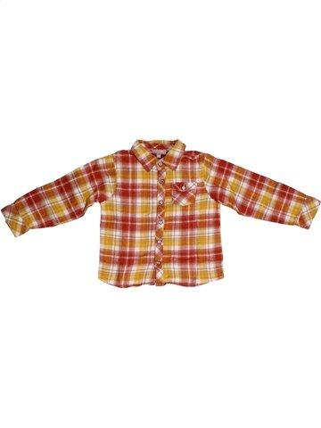 Chemise manches longues garçon GRAIN DE BLÉ orange 2 ans hiver #1139786_1