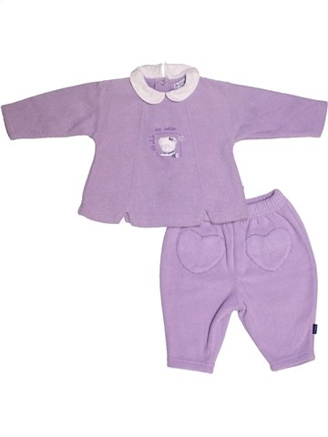 Ensemble fille NATALYS violet 6 mois hiver #1146716_1