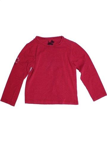T-shirt manches longues fille CHIPIE rouge 4 ans hiver #1152100_1