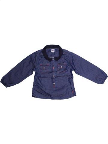 Blusa de manga larga niña PETIT BATEAU azul 4 años invierno #1153081_1