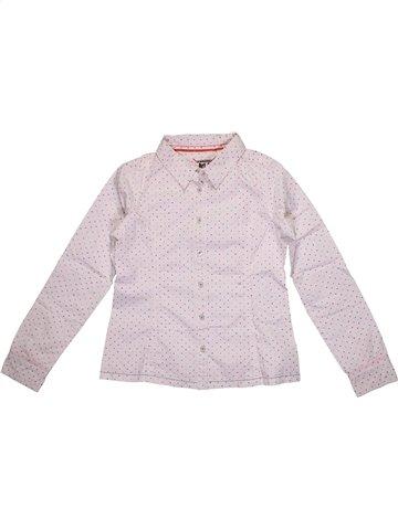 Blusa de manga larga niña OKAIDI blanco 10 años invierno #1156913_1