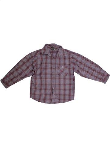 Chemise manches longues garçon YCC-214 gris 5 ans hiver #1164325_1