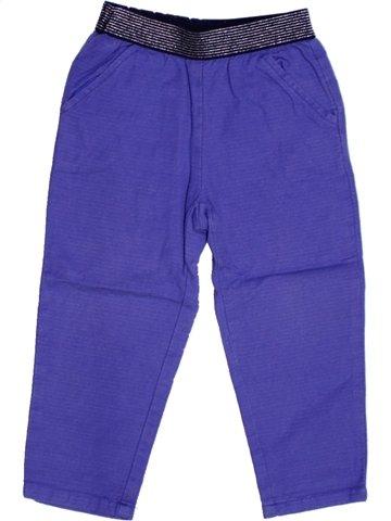 Pantalon fille BOUT'CHOU violet 2 ans hiver #1168029_1