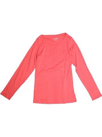 T-shirt manches longues fille LH BY LA HALLE rose 12 ans hiver #1169708_1