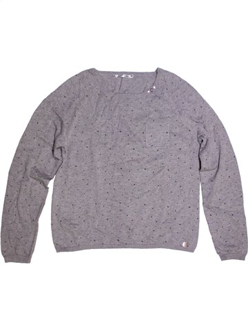 Pull fille DDP gris 14 ans hiver #1170772_1