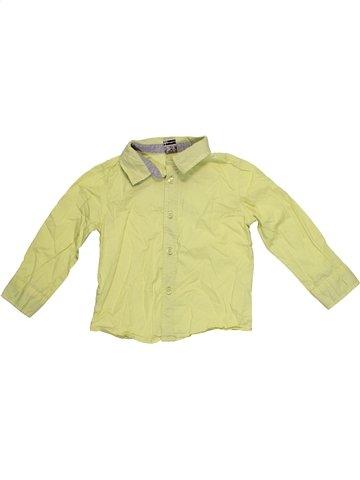 Chemise manches longues garçon TAPE À L'OEIL vert 2 ans hiver #1172386_1