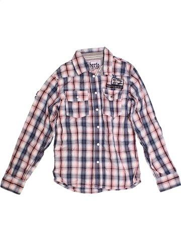 Chemise manches longues garçon LIBERTO violet 10 ans hiver #1174201_1