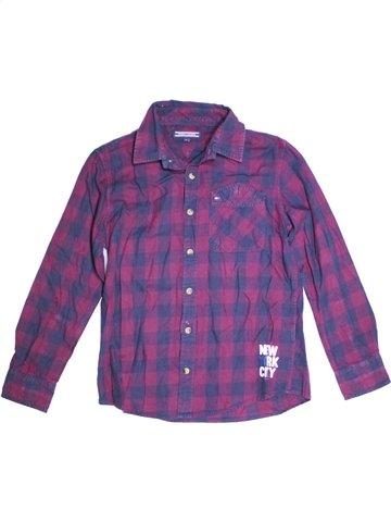 Chemise manches longues garçon TOMMY HILFIGER violet 10 ans hiver #1175626_1