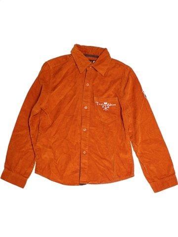 Chemise manches longues garçon JBC orange 10 ans hiver #1177794_1