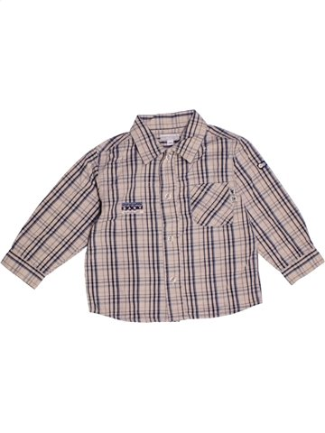 Chemise manches longues garçon KIMBALOO violet 2 ans hiver #1179193_1
