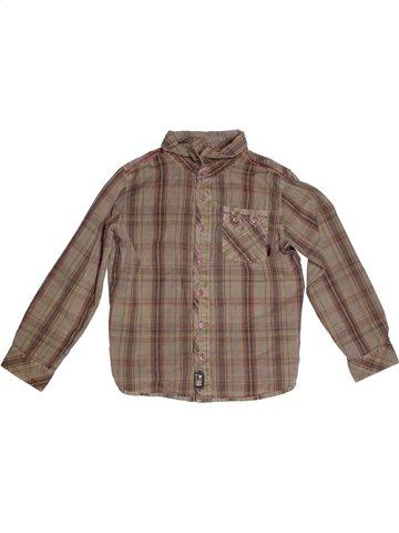 Chemise manches longues garçon TERRE DE MARINS marron 8 ans hiver #1179466_1