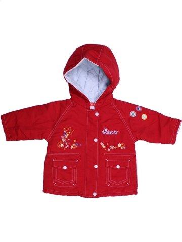 Manteau fille TISSAIA rouge 6 mois hiver #1180504_1