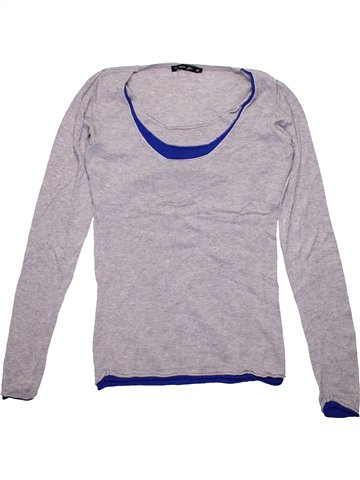 Pull fille TEDDY SMITH gris 14 ans hiver #1182733_1