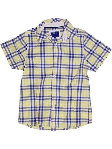 Chemise manches courtes garçon YCC-214 blanc 8 ans été #1183136_1