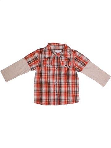 Chemise manches longues garçon KIMBALOO rose 2 ans hiver #1183830_1