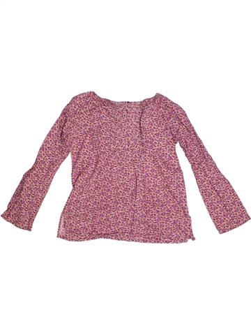 Blusa de manga larga niña OKAIDI rosa 8 años invierno #1184117_1
