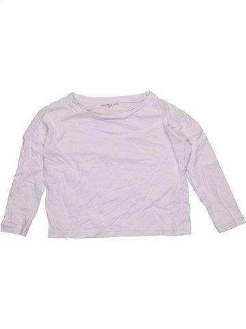 T-shirt manches longues fille MONOPRIX blanc 4 ans hiver #1184438_1