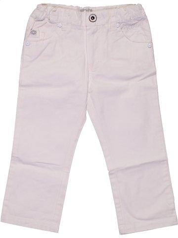 Pantalon garçon OOXOO blanc 2 ans été #1188768_1