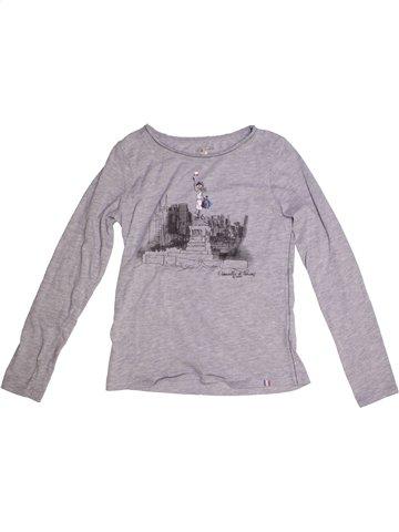 T-shirt manches longues fille DDP gris 12 ans hiver #1193515_1