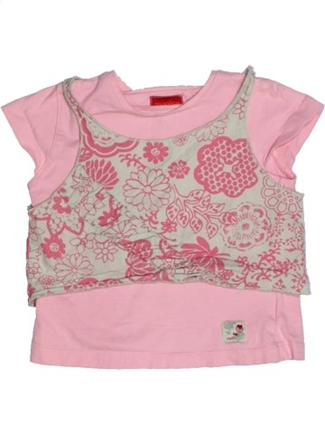 Camiseta de manga corta niña MARÈSE rosa 3 años verano #1195638_1