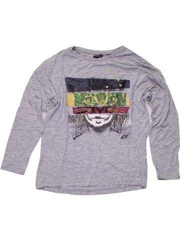 Camiseta de manga larga niña KIABI gris 6 años invierno #1196334_1