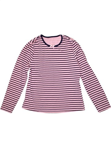 T-shirt manches longues fille GEORGE rose 12 ans hiver #1203999_1