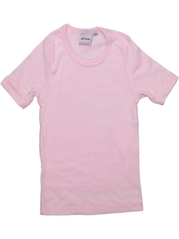 T-shirt manches courtes fille ALIVE rose 6 ans été #1204994_1