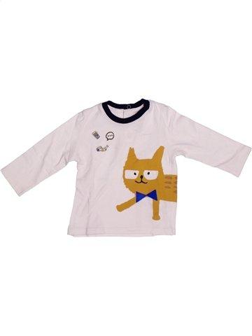 T-shirt manches longues garçon CATIMINI blanc 9 mois hiver #1206346_1