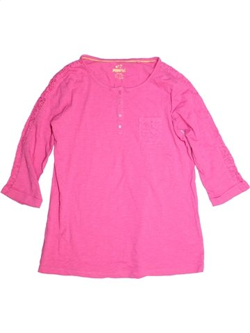T-shirt manches longues fille PEPPERTS rose 14 ans hiver #1213585_1