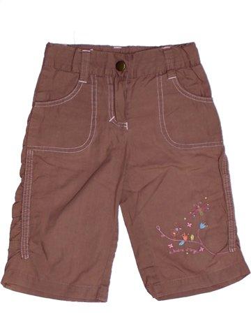 Pantalón corto niña SUCRE D'ORGE marrón 3 años verano #1218157_1