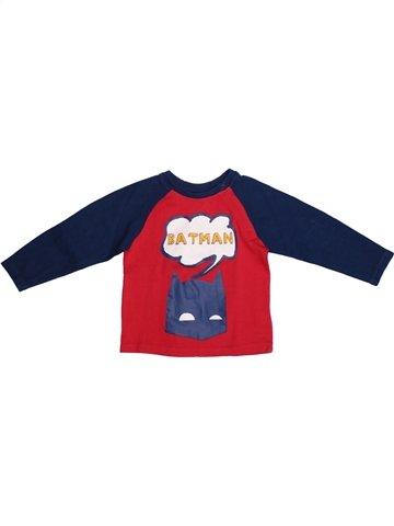 T-shirt manches longues garçon SUPERS HÉROS bleu 2 ans hiver #1218542_1