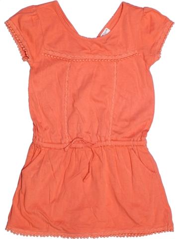 Robe fille CYRILLUS orange 6 ans été #1220884_1