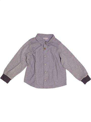 Chemise manches longues garçon GRAIN DE BLÉ gris 2 ans hiver #1222105_1
