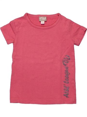 T-shirt manches courtes fille VERTBAUDET rose 2 ans été #1222689_1