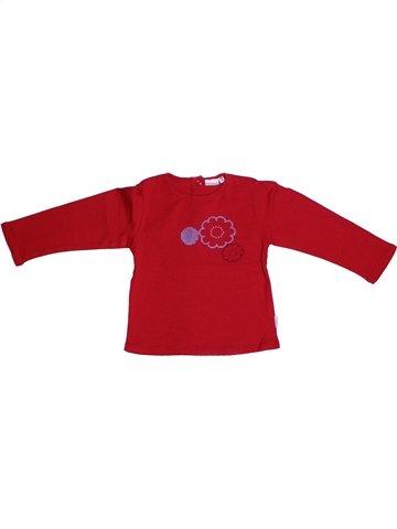 T-shirt manches longues fille P'TIT BISOU rouge 2 ans hiver #1222879_1