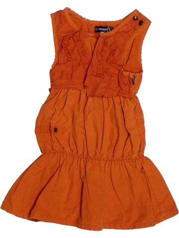 Robe fille JEAN BOURGET orange 2 ans été #1224243_1